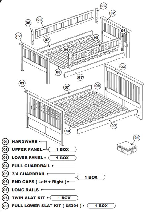 Parts Of A Bunk Bed Atlantic Columbia Bunk Bed Assembly How To Assemble