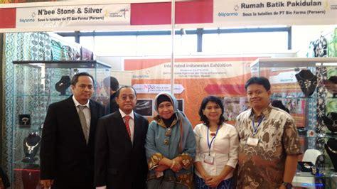 Bio Di Indo bio farma boyong batik pakidulan pameran di aljazair