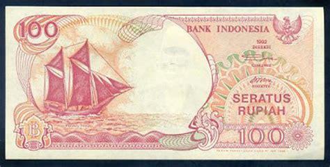 uang kertas quot perahu layar quot pecahan rp 100 1992