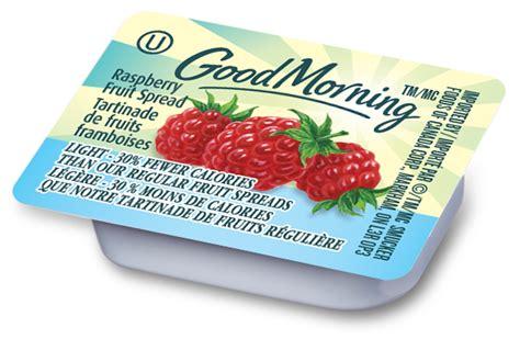 Good Morning Raspberry Fruit Spread Light   Smucker Foodservice Canada
