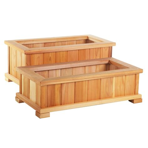 Wood Planter Boxes Lowes by Planters Amusing Cedar Flower Box Cedar Flower Box Cedar