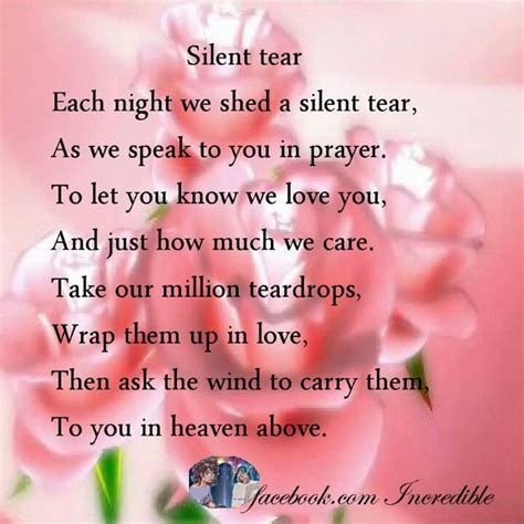 silent tear quotes in memory of loved ones