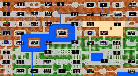 legend of zelda map with items zelda game map 13legendofzelda secondquest hyrule items