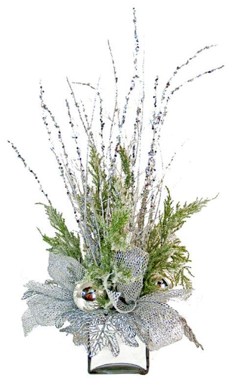 artificial floral arrangements silver silk floral arrangement eclectic artificial