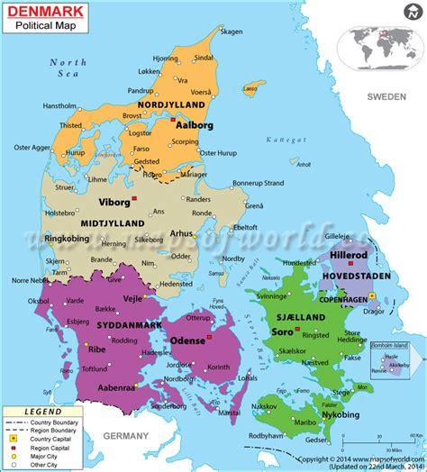 denmark on map political map of denmark denmark regions map