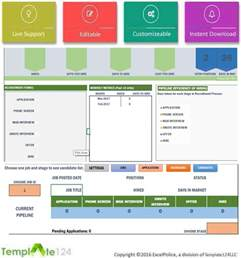 Recruitment Tracker Template by Recruitment Manager Excel Template Dashboard Tracking