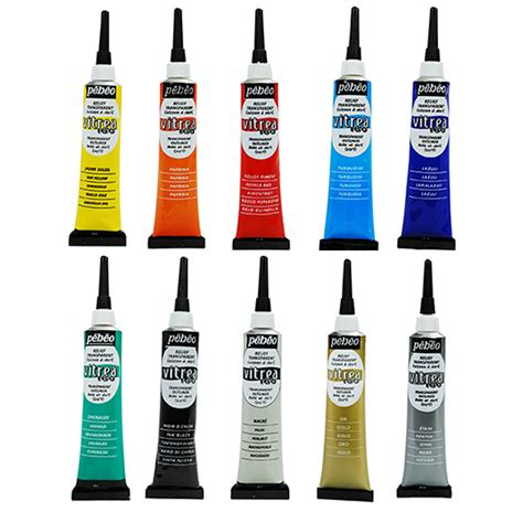 3d Outliner Pens by Pebeo Vitrea 160 Stained Glass Paint 3d Relief Outliner 20ml All Colours Ebay