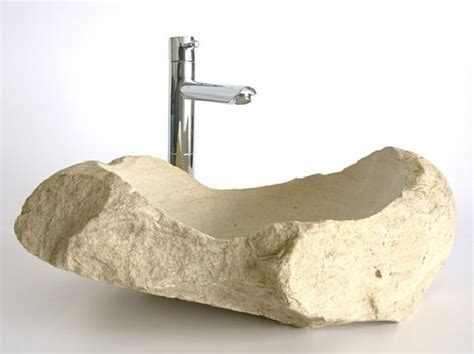 stones in bathroom sink natural stone sinks complementing fresh bathroom interiors