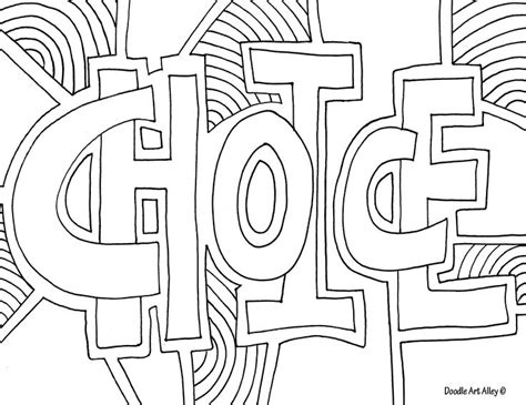 printable coloring pages words http www doodle art alley com quote coloring pinterest