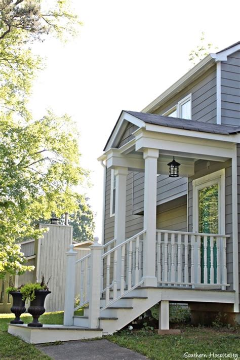 side porches exterior paint makeover southern hospitality