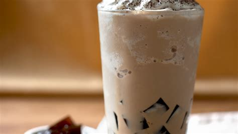 Latte Jelly Drink latte with coffee jelly recipe