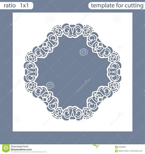 Basic Card Cuts Cardstock Template by Laser Cut Wedding Invitation Card Template Cut Out The