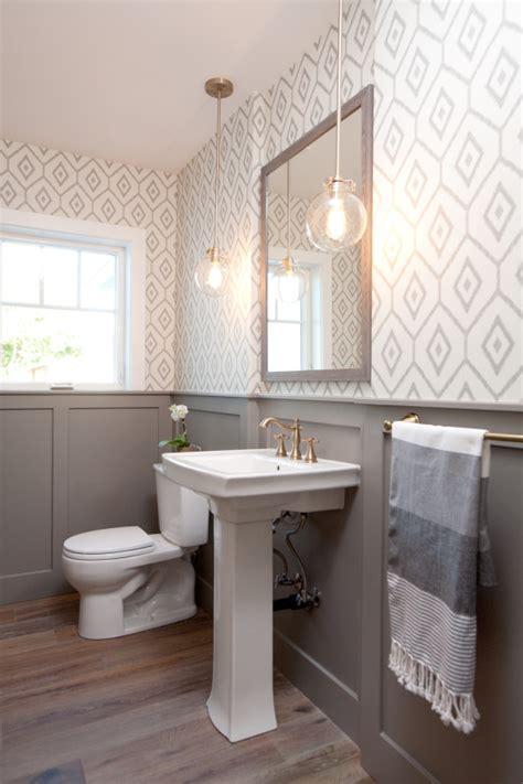 modern farmhouse bath the gray wainscoting and
