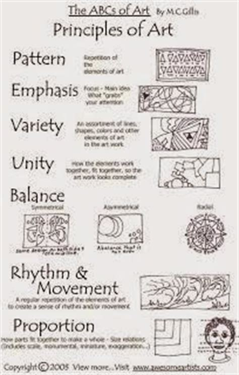 design elements and principles quiz elements of art worksheets for middle school pictures to