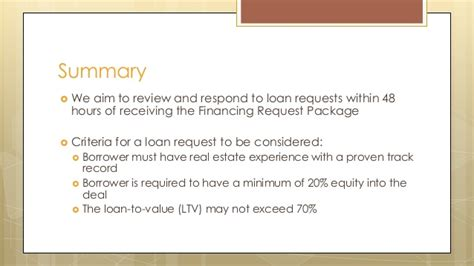 How To Package A Loan Request For Construction Rehab And Commercial Loan Package Template