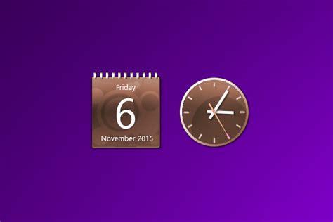 Brown Calendar Brown Calendar And Clock Windows 10 Gadget Win10gadgets