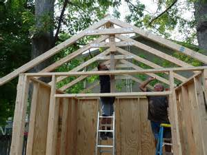 How To Make Trusses For Shed by Build Your Own Storage Shed Creating And Attaching The