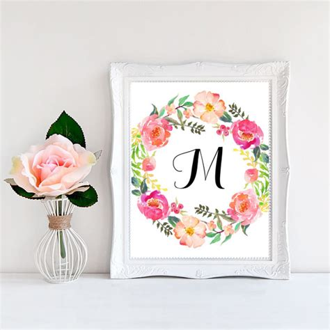 Nursery Wall Decor Letters Floral Nursery Decor Baby Letters For Wall Personalized