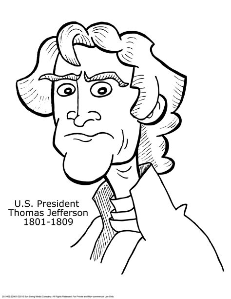 Printable Coloring Page Of Photo Of Thomas Jefferson Jefferson Coloring Pages