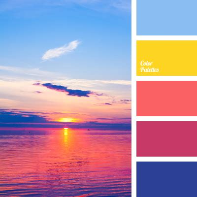 color sunset color of sunset color palette ideas