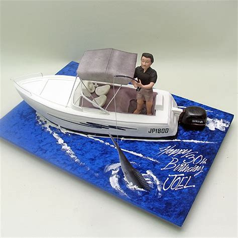 man in fishing boat cake topper fishing man on a boat cake boats ships sea 3d cakes