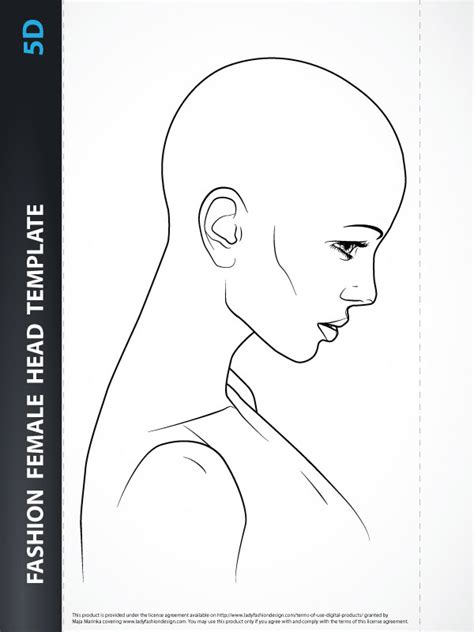 female hairstyle template 5d lady fashion design
