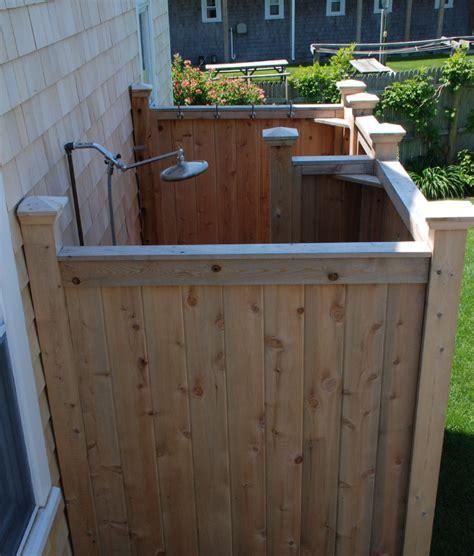 out door shower outdoor shower enclosure cedar showers kits outdoor