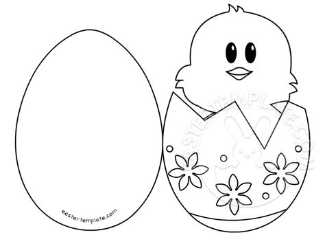 easter ideas chick in egg card easter template