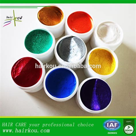 Pomade Color hair pomade wax temporary hair color washable hair color