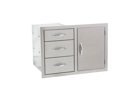 outdoor kitchen stainless doors and drawers summerset 30 quot stainless steel door drawer combo