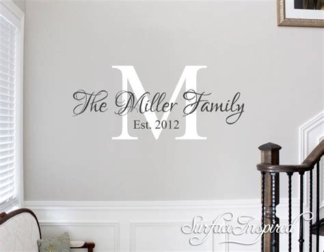 name stickers for walls wall decals quote personalized family name wall decal name