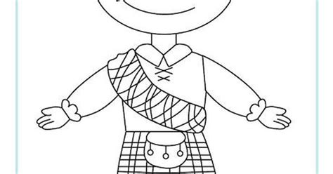 scottish boy colouring page st andrews day printable