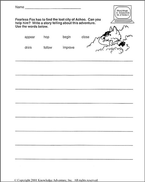 Writing Worksheets For 2nd Grade by 2nd Grade Writing Worksheets Quotes