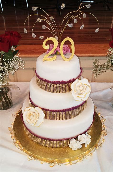 20th Anniversary Wedding by 20th Wedding Anniversary Cake Cakecentral