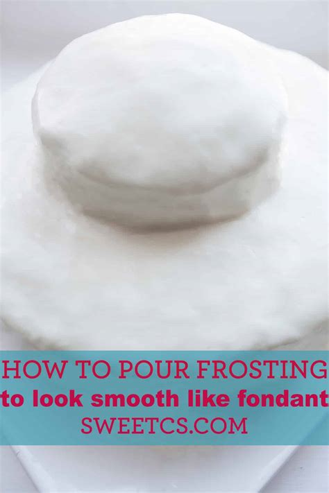 Frost professional looking cakes with pourable faux