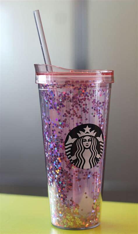 Starbucks Gliter Cold Cup korea starbucks 16 cherry blossom pink glitter cold cup 650ml cherry blossoms blossoms and