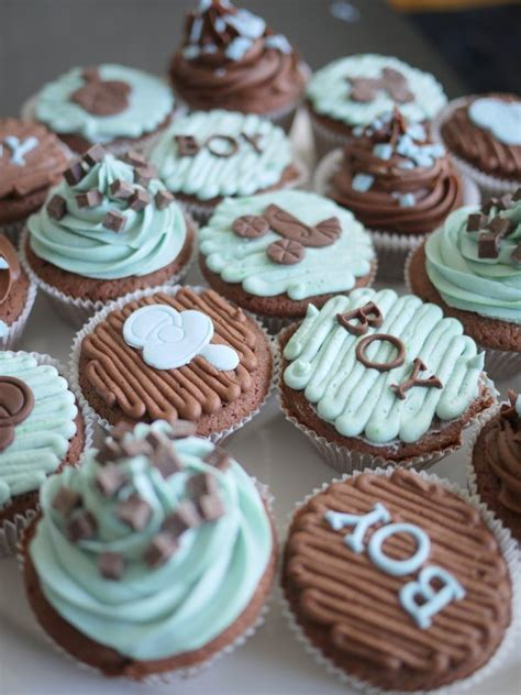 Boy Baby Shower Cup Cakes by Living Room Decorating Ideas Baby Boy Shower Cupcakes