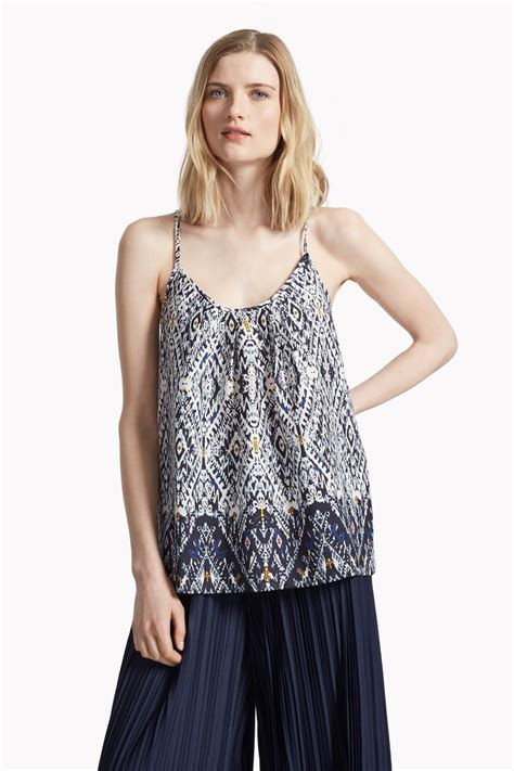 printed camisole top daze printed cami top dresses great plains