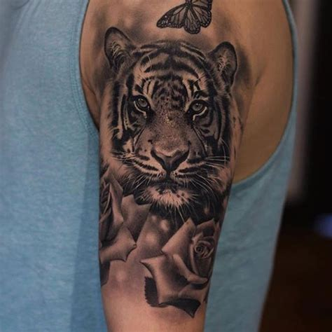 tiger arm tattoo tiger by jose contreras noregrets
