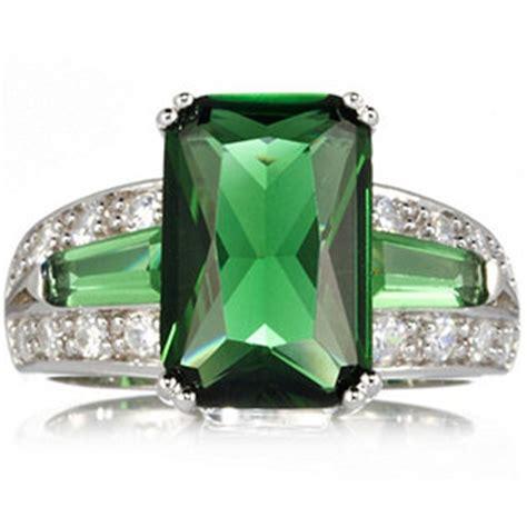 diamonique by tova 5ct tw emerald cut ring sterling silver