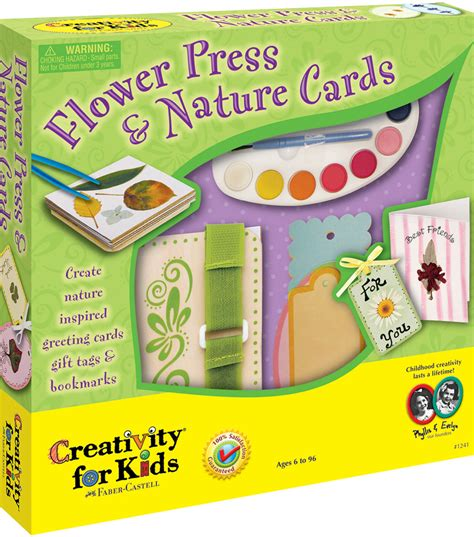 card kits for children creativity for flower press nature cards kit jo