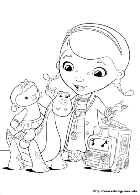 doc mcstuffins coloring page doc mcstuffins lambie coloring pages az coloring pages