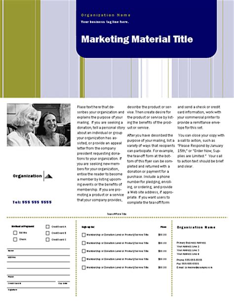 direct mail templates free direct mail set flyer stripes design for