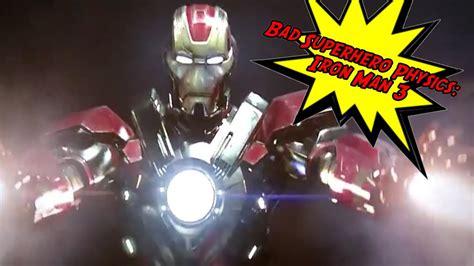 bad superhero physics iron man youtube