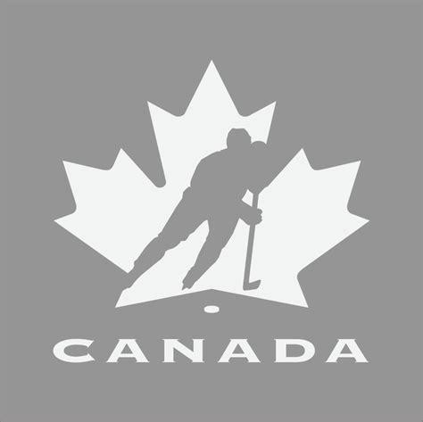 team canada hockey logo 1color vinyl decal sticker car