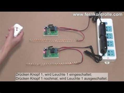 Obeng Set With Led L einfaches 1 kanal 12v funksteuerung set f 252 r schalten 2 led