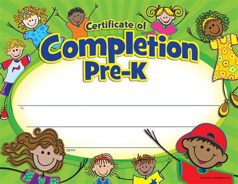 beachinf pre k hair pre k certificate of completion tcr4588 teacher