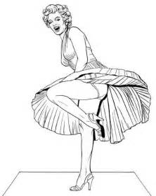 marilyn coloring pages color coloring book pages