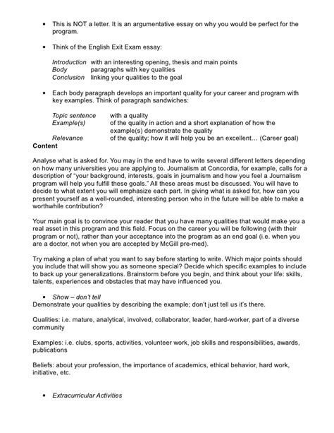 Letter Of Intent Sle Concordia Letter Of Intent Autobiographical Letter For