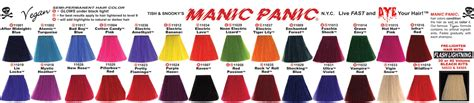 hair dye continued the truth about manic panic bonzai infra red and vire red hair colour pinterest